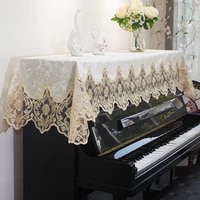 luxury piano cover european piano towel lace piano covers simple modern piano general cover towel home decoration bench cover