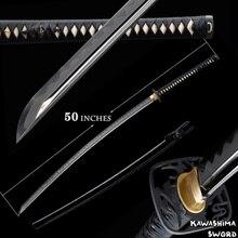 Nodachi Series-Japanese Katana Real Sword 1095 Steel Blade Clay Tempered Real Hamon Full Tang Razor Sharp-51Inchese
