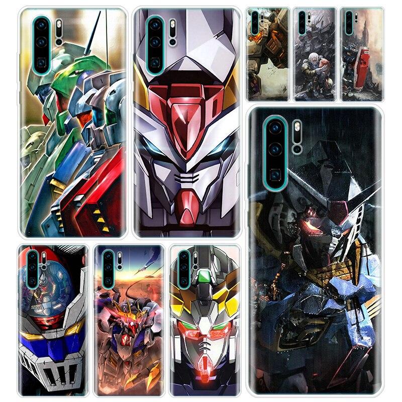 Traje móvil Gundam Anime cubierta de la caja del teléfono para Huawei Honor 10 Lite 9 Y5 Y6 Y7 Y9 7A 8A 8S 8X 7X 9X 10i 20 Pro Coque de Capa