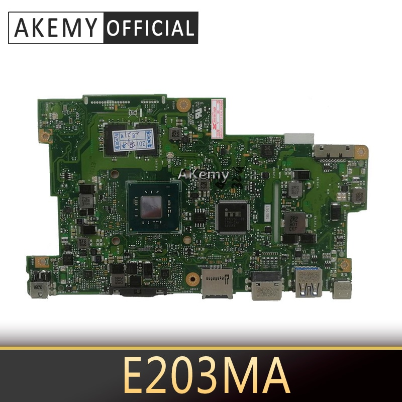 Con 4G RAM + con interfaz de disco duro HDD 4 núcleos CPU Laptop placa madre para ASUS E203M E203MA placa madre del cuaderno prueba OK