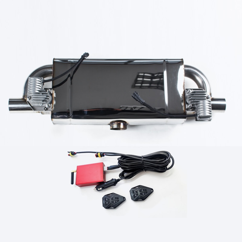 نظام كاتم صوت صمام عادم السيارة مع جهاز التحكم عن بعد كاتم صوت بصوت أعلى