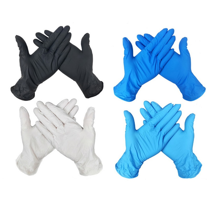 100 guantes desechables universales de látex para cocina, guantes desechables para alimentos, guantes de limpieza, guantes de trabajo