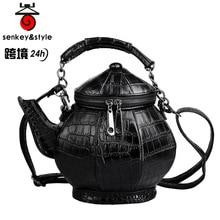 HOT kettle Messenger bag Unisex Hard Cool Personality Satchel Korean Female Male Single Shoulder Handbag Bag Teapot bag