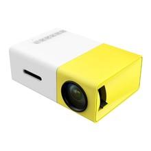 YG300-projecteur HDMI USB   600 lumen, 3.5mm Audio 320x240 Pixels, lecteur média pour la maison