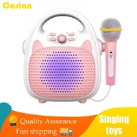 children toys karaoke singing machine bluetooth music player toy speaker for childrens party led lights early education machine