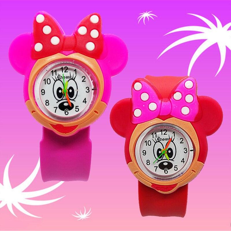 Nette Mickey Minnie Spielzeug Kinder Uhr für Mädchen Jungen Baby Weihnachten Geschenk Grundschule Schüler Zeit Uhr Maus Kinder Uhren