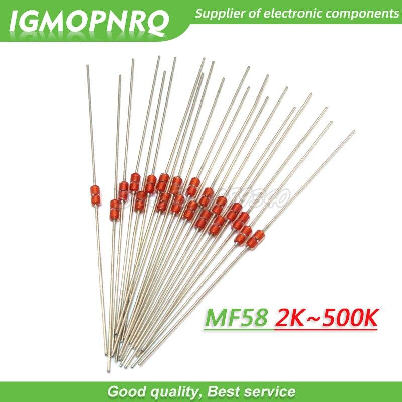 20 piezas resistencia térmica NTC MF58 3950. 5% B 2K 5K 10K 20K 50K 100K 200K 500K ohm resistencia térmica