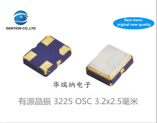 5 uds 100% nueva y original TXC 7X OSC activa 3225 SMD cristal 3,2X2,5mm 4-pin Taiwán tecnología de cristal 1-125M