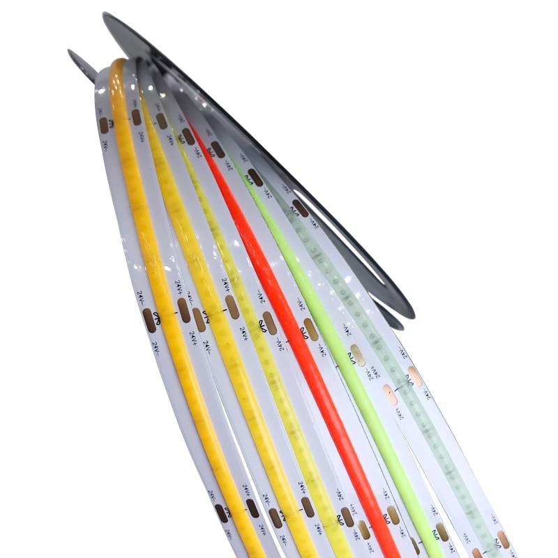 A espiga de néon de alta densidade conduziu a tira 12v 24v da tevê do diodo da fita do computador da luz do diodo branco morno da tira 12v 24v 5m 300led/m 352led/m