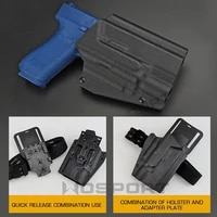 tactical kydex glock 17 19 19x 45 holster with x400 flashlight mount pistol holster for men women quick release buckle adapter
