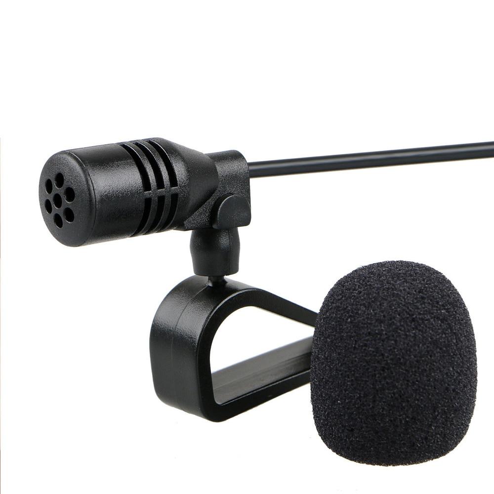 Микрофон 3,5 мм, внешний микрофон для автомобильной стереосистемы, GPS, Bluetooth, аудио, DVD, 3 матера, провод 1-10 В постоянного тока, автомобильный ком...