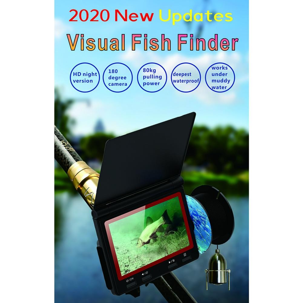 Underwater Fish Finder High-Definition 180° Fishing Camera Set 4.3 Inch LCD Screen Display Night Vision Light 30 Meter Cable enlarge