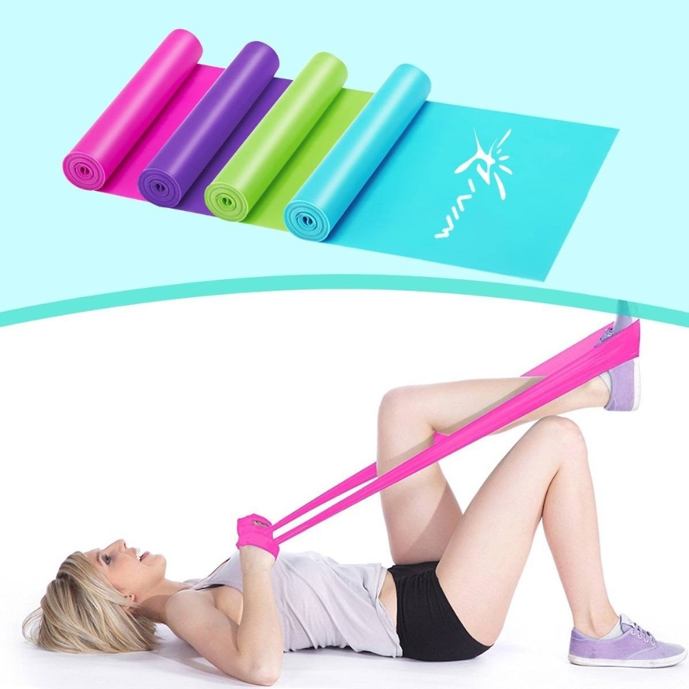 230cm Yoga Fitness Pull Rope Resistance Bands Latex Elastic Stretch Tension Band Exercise Equipment