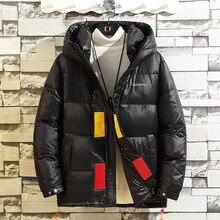 Manteau en duvet pour hommes brillant peau brillante nouveaux hommes s hiver doudoune grands yards court jeunesse doudoune