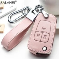 fashion leather car key case full cover for buick chevrolet cruze opel vauxhall insignia mokka encore auto key shell protection