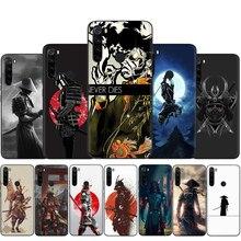 Étui de téléphone japonais en Silicone pour samouraï ninja pour Xiaomi Redmi Note 4 4X 5 6 7 8 9 Pro Max 8T 9S 5A Prime