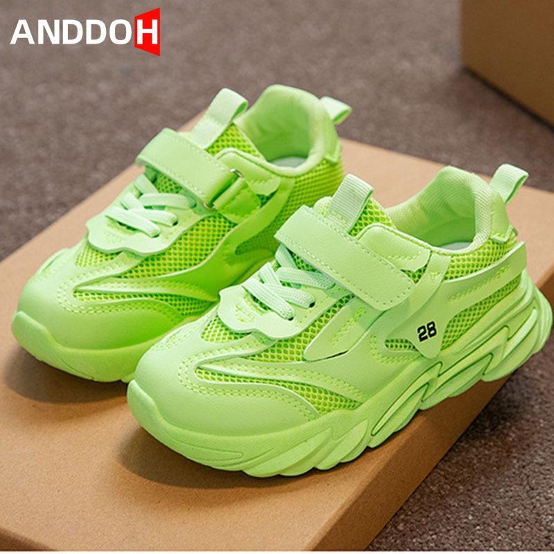 Size 26-36 Kids Breathable Wear-resistant Mesh Sneakers Children Non-slip Lightweight Running Sneake
