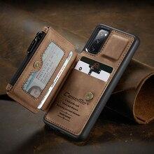 S20 FE бумажник с застежкой молнией чехол для Samsung Галактики S20 FE брендированный флип чехол из кожи для смартфона Samsung S20 FE 5G телефона на застежке с отделением для карт
