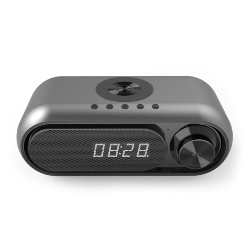 Y8AD Alarm Bluetooth-compatible Speaker Small Kit Li-battery Power Wireless Charger Party-Speaker Cases Desktop Fast Charger