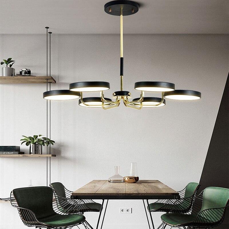 الحديثة غرفة المعيشة LED الثريا غرفة الطعام غرفة نوم ثريا تركب بالسقف فيلا ضوء الفاخرة المنزل الداخلية الإضاءة مصباح
