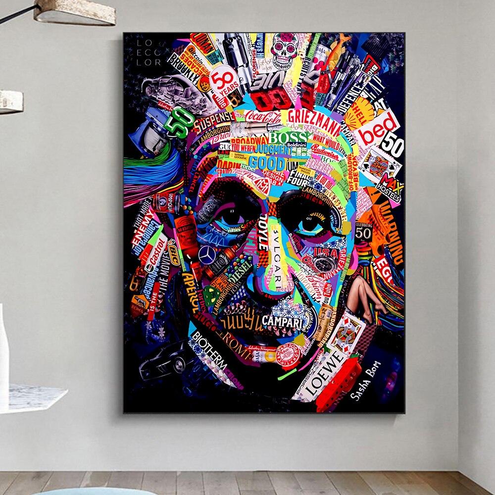 Абстрактные граффити плакаты-портреты и принты Картина на холсте декоративная картина искусство Настенный декор для гостиной Декор