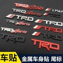 1 piezas 3D metal TRD coche logotipo parrilla emblema etiqueta cromo etiqueta engomada del coche de estilo de coche para Toyota corona REIZ PRIUS COROLLA PREVIA Camry