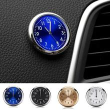 Car Clock Luminous Mini Automobiles Internal Stick-On Digital Watch Mechanics Quartz Clocks Auto Orn
