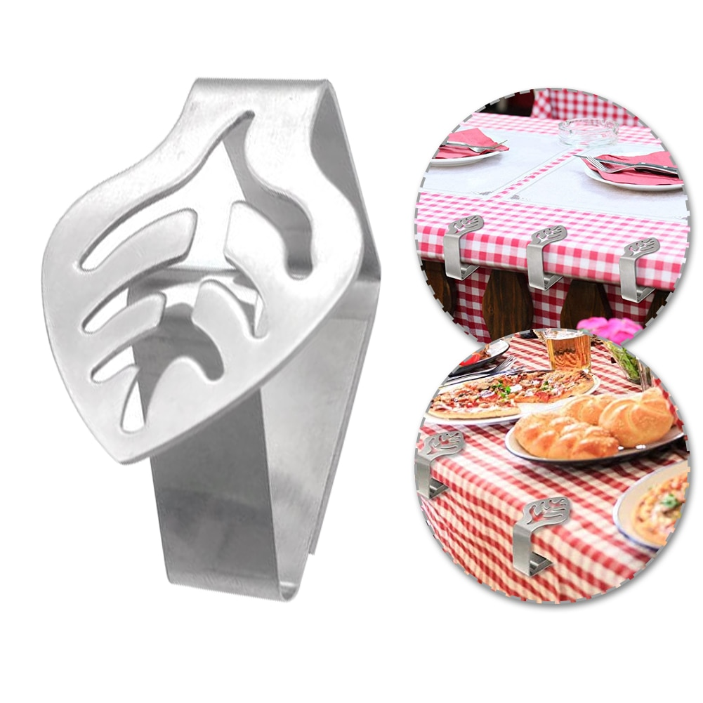 8PCS Stainless Steel Table Cloth Clip Party Picnic Wedding Prom Multi-Function Tablecloth Round Stable Clips
