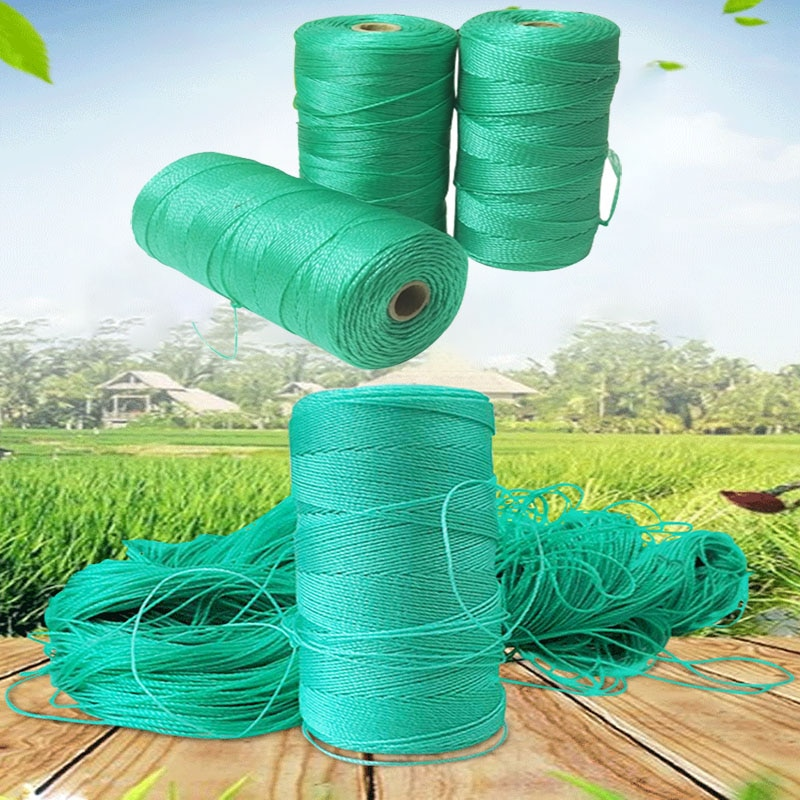 Пластиковая сетчатая веревка, веревка для теплицы, скалолазания, лозы, Упаковочная веревка, веревка для палатки, веревка для сада, Полиэтиле...