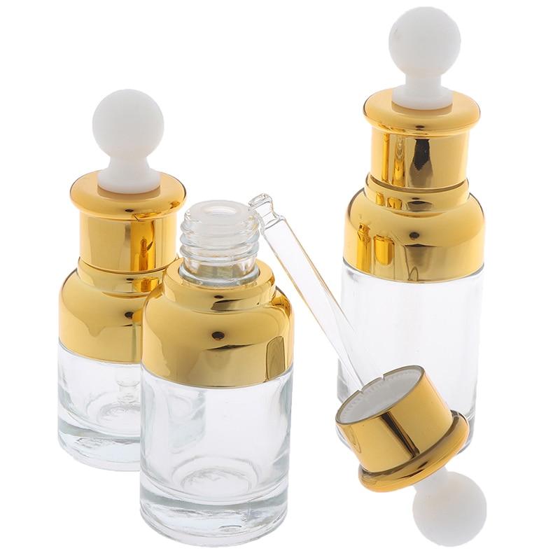 1 шт. 20 Вт, 30 Вт, 40 мл трубки прозрачная пипетка Стекло ароматерапия бутылка жидкости для электронных сигарет для массажа с Пипетка для масел бутылки многоразового использования