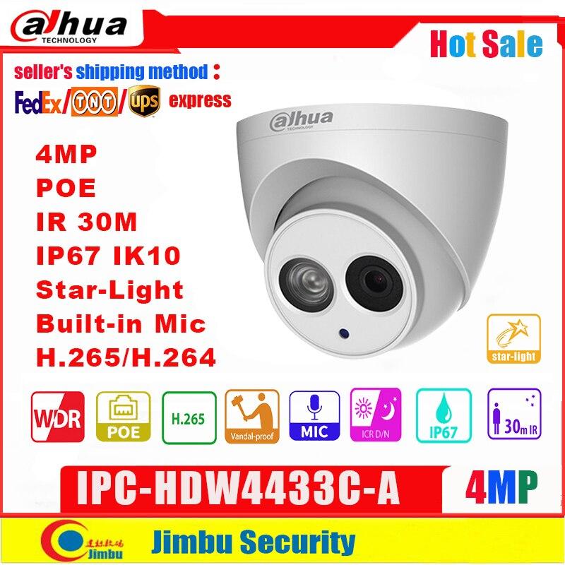 Dahua 4MP IP камера IPC-HDW4433C-A Starlight levelPoE Встроенная микро IR30m IP67 сетевая CCTV камера Замена IPC-HDW4431C-A