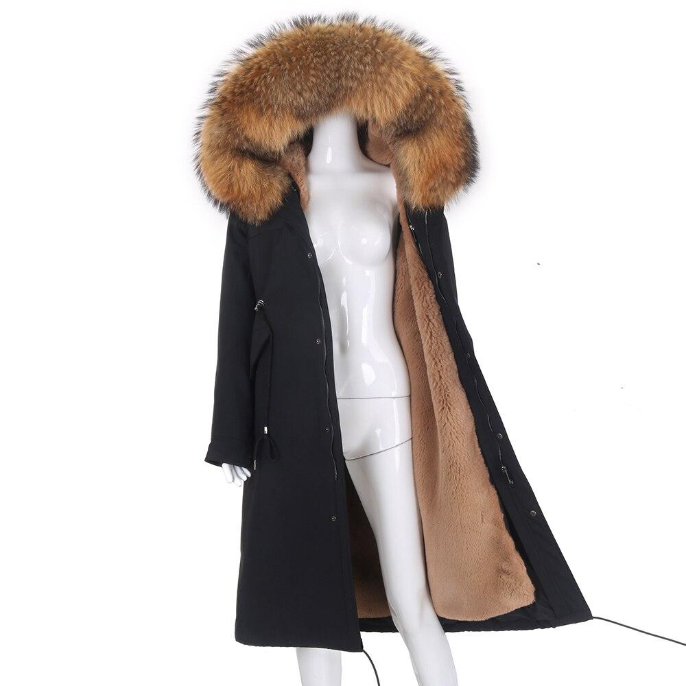 Женская длинная парка со съемным мехом, черная непромокаемая парка со съемным натуральным лисьим мехом на капюшоне, зима 2021