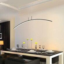 Nordique restaurant salon de thé lampe moderne table à manger arc ligne led chambre lampe de chevet étude lecture lustre
