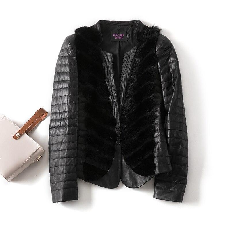 Chaqueta de cuero genuino Real ropa de Mujer 2020 Abrigo de piel de oveja otoño invierno Abrigo de piel de visón coreano abajo abrigos Abrigo Mujer 19513