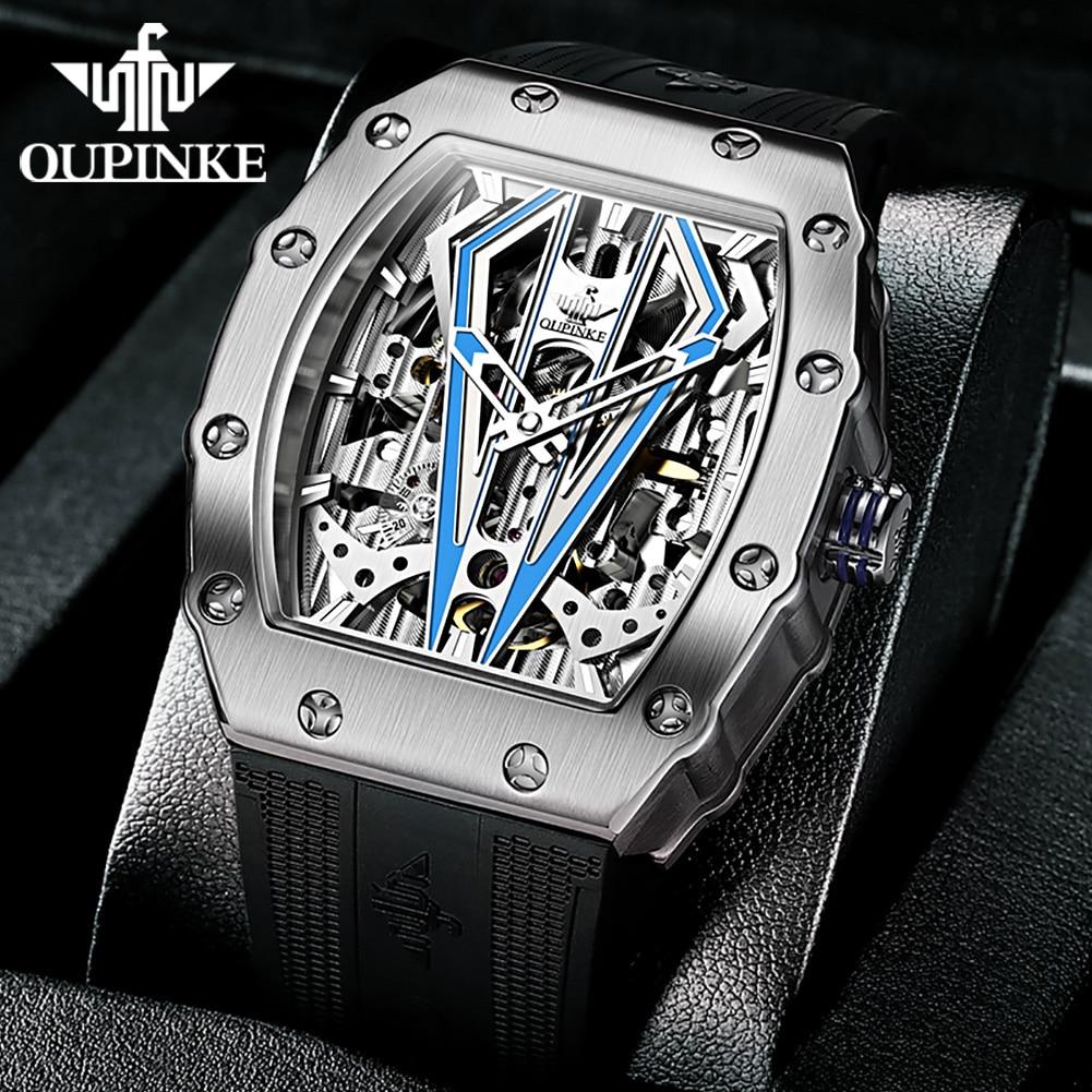 OUPINKE Top Brand Luxury Men Mechanical Automatic Watches Swiss Movement Waterproof Sapphire Mirror