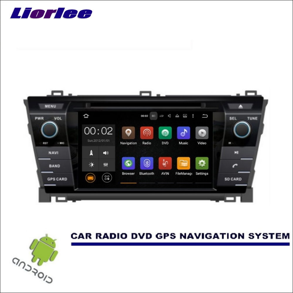 Liorlee pour Toyota Corolla 2013-2017 CD lecteur DVD GPS Navi Radio HD écran voiture multimédia Navigation Wince/système Android