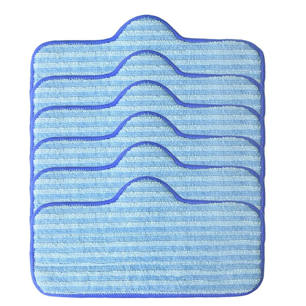 Paquete de 6 almohadillas de fregona, paño de repuesto de limpieza de suelo, almohadillas de repuesto de microfibra para Dupray, limpiador de vapor limpio, fregona de fibras
