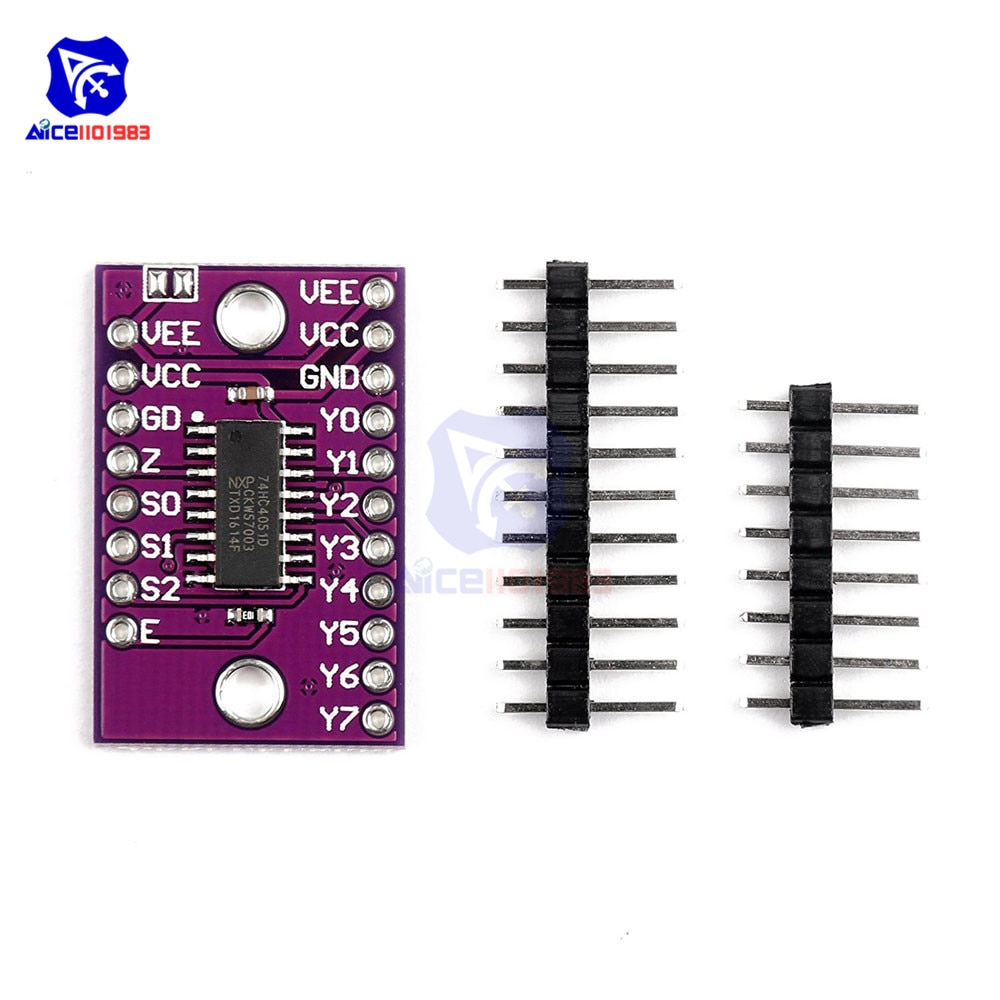 CJMCU-4051 74HC4051 CD4051 controlador Digital único de 8 canales módulo multiplexor de interruptor electrónico analógico