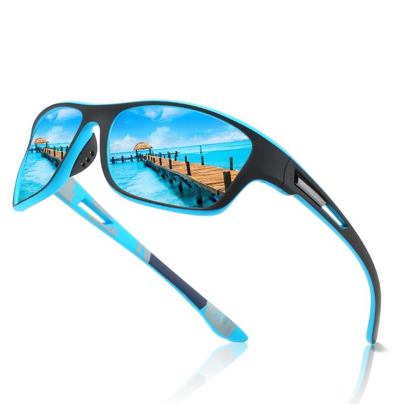 Мужские солнцезащитные очки с поляризацией, черные солнцезащитные очки в винтажном стиле, брендовые дизайнерские модные очки, очки для пут...