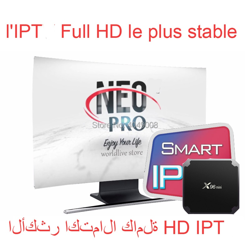 Neo pro-Iptv inteligente neopro neox árabe, dispositivo de tv inteligente de Europa, Italia, Polonia, España, Reino Unido, portugal, sin aplicación