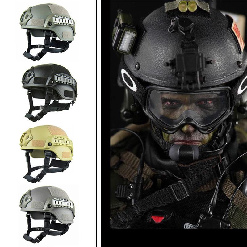 Hike memória esponja capacete de paintball airsoft capacete tático papel pegajoso duro 4 cores camuflagem tático capacete leve