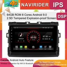 Lecteur multimédia de voiture 9 pouces   Écran IPS, moniteur GPS, enregistreur de bande, Bluetooth Android 9.0, pour Toyota ESTIMA véhicule Audio, Navi