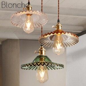 Vintage Pendant Lights Glass Pendant Lamp Loft Industrial Hanglamp for Living Room Dining Room Bedroom Light Fixtures Home Decor
