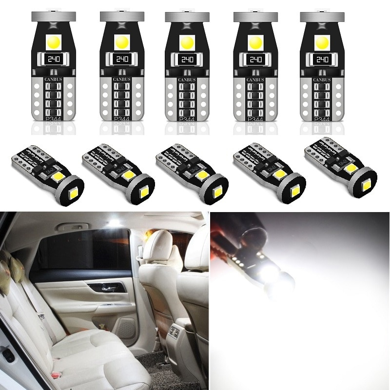 10X W5W T10 bombilla LED para Mazda 3 6 CX-5 323 5 CX5 2 626 Spoilers MX5 CX 5 GH accesorios luz Interior del coche aparcamiento lámpara 12V