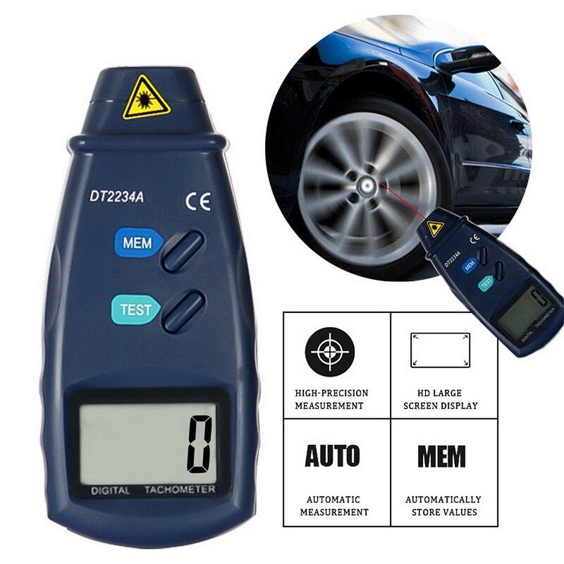 Tacómetro Digital con láser para fotos, tacómetro Digital sin contacto, tacómetro, velocímetro, indicador de velocidad, motor