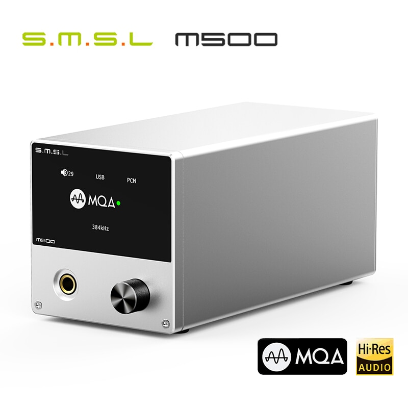 SMSL M500 DAC MQA ES9038PRO ES9311 XMOS XU-216 32bit 768kHz DSD512 Hi-Res аудио декодер и усилитель для наушников