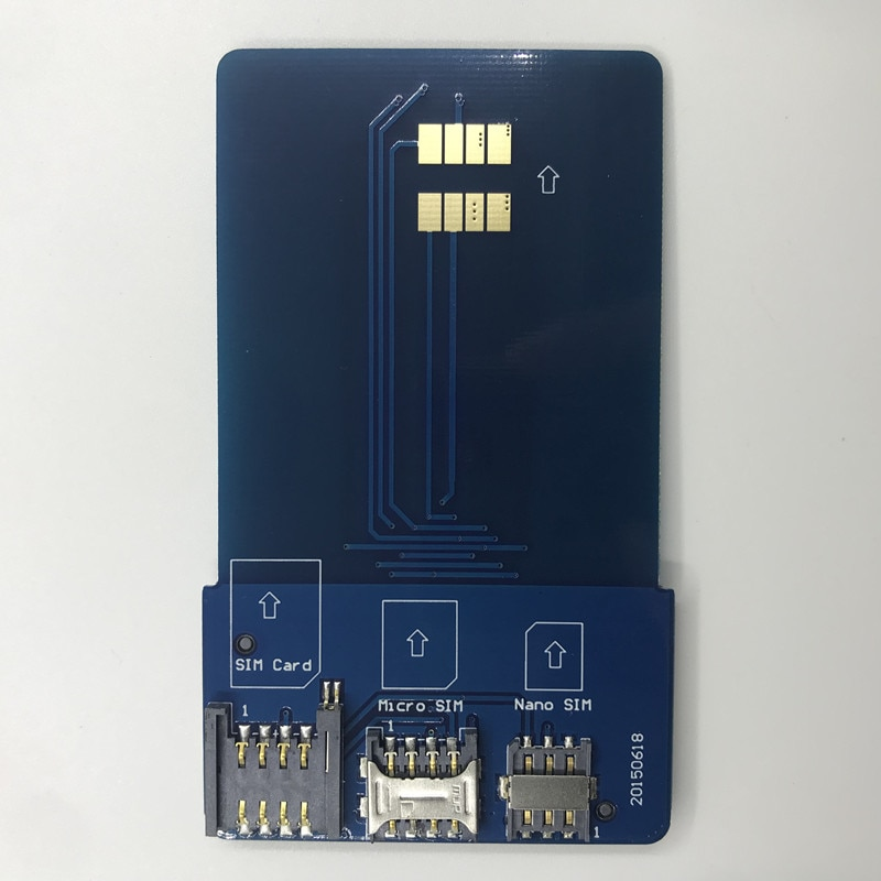 OYEITIMES SIM Card Pinboard Adapter Converter SIM Card Smart IC Card Extension for Mini Micro Nano 2FF/3FF/4FF SIM Card enlarge