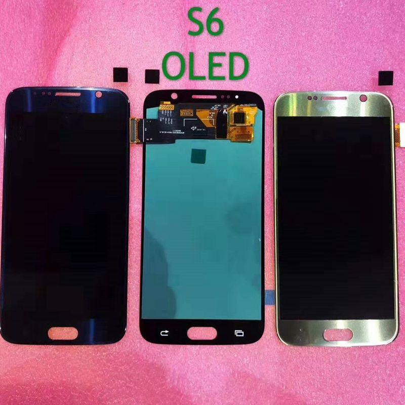 Oled para Samsung Galaxy S6 G920 G920F G920FD G920A pantalla Lcd + MONTAJE DE digitalizador de cristal táctil