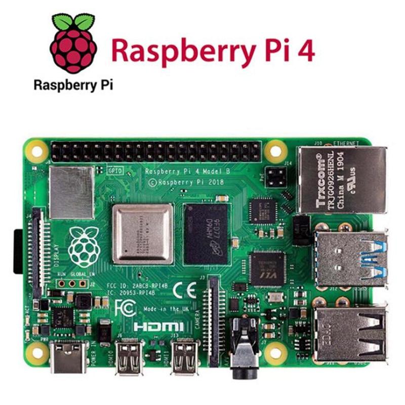 لوحة راسبيري PI 4B رسمية مع راسبيري Pi 4 نموذج B لوحة تحكم لوحة عرض RAM 4G/8G 4 Core CPU 1.5Ghz