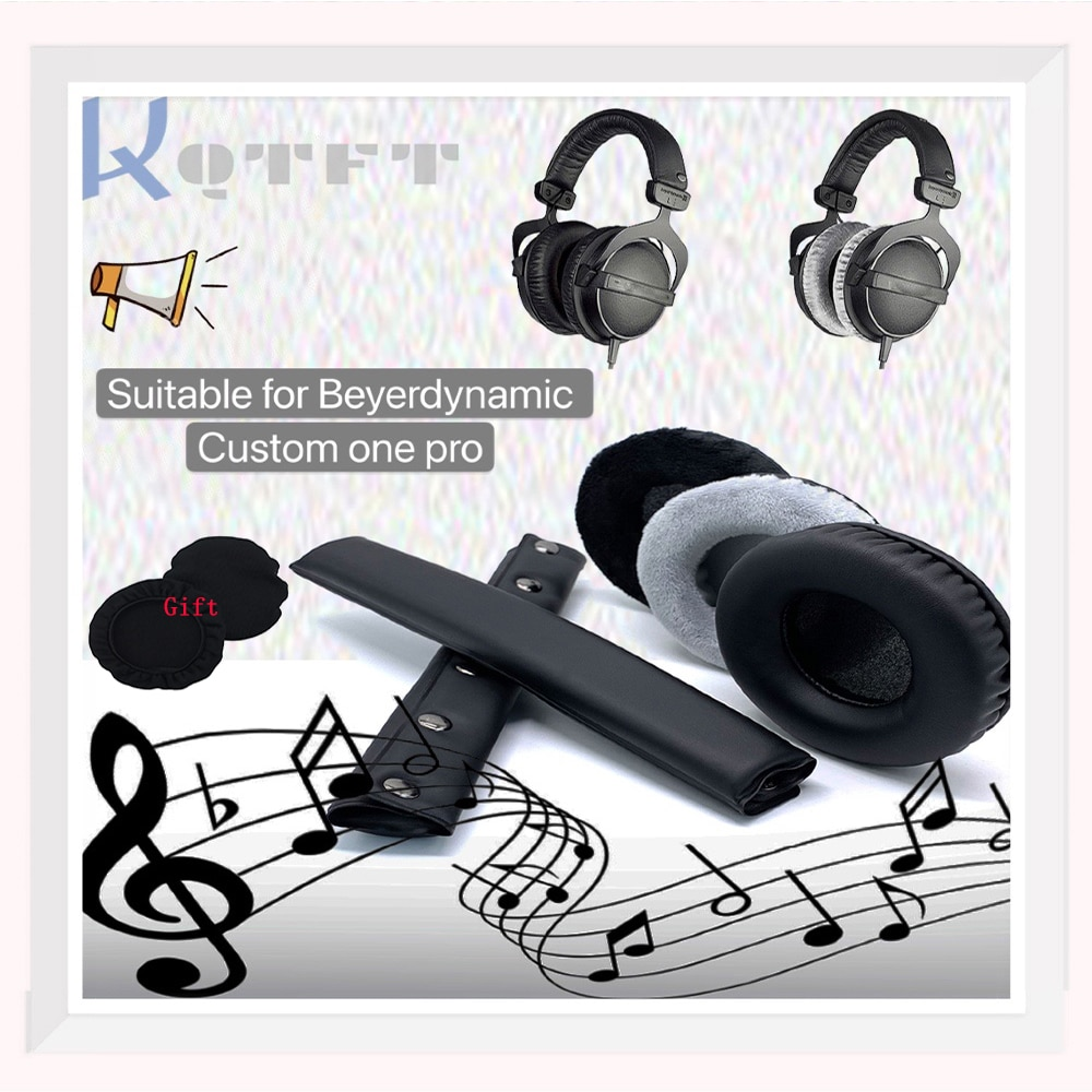 Earpads Velvet for Beyerdynamic Custom one Pro Headset Replacement  Earmuff Cover Cups Sleeve pillow Repair Parts